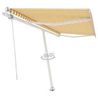 vidaXL Samostojeća automatska tenda 400 x 300 cm žuto-bijela