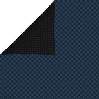 vidaXL Plutajući PE solarni pokrov za bazen 600 x 400 cm crno-plavi