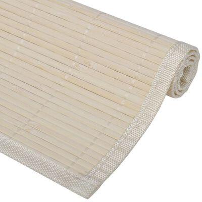 6 Podmetača za Stol od Bambusa 30 x 45 cm Prirodna boja