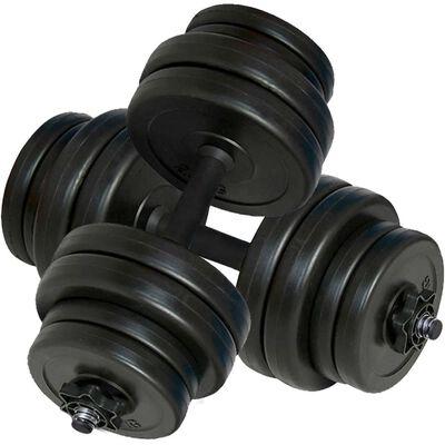 vidaXL Utezi 2 x 15 kg
