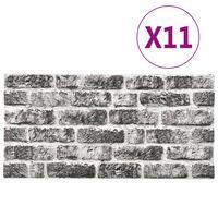 vidaXL 3D zidni paneli s uzorkom tamnosivih cigli 11 kom EPS