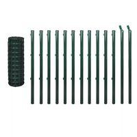 vidaXL Euro ograda 25 x 1 m čelična zelena