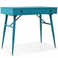 vidaXL Pisaći stol s ladicom 90x50x76,5 cm antikne zelene boje