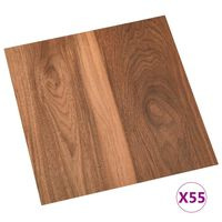 vidaXL Samoljepljive podne obloge 55 kom PVC 5,11 m² smeđe
