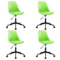 vidaXL Okretne blagovaonske stolice od umjetne kože 4 kom zelene