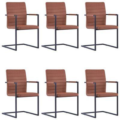 vidaXL Konzolne blagovaonske stolice od umjetne kože 6 kom smeđe