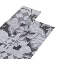 vidaXL Podne obloge od PVC-a 5,02 m² 2 mm samoljepljive sive s uzorkom