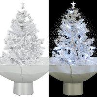 vidaXL Božićno drvce koje sniježi sa stalkom bijelo 75 cm