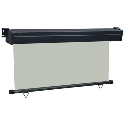 vidaXL Balkonska bočna tenda 170 x 250 cm siva