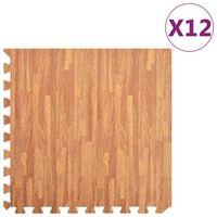 vidaXL Podne prostirke 12 kom s godovima drva 4,32 m² od EVA pjene