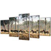 Zidne slike na platnu s zebrama 200 x 100 cm