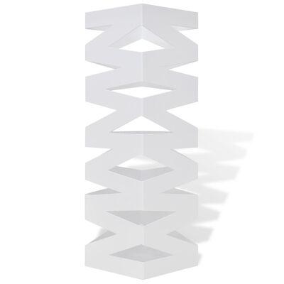 vidaXL Bijeli Pravokutni Stalak Držač za Kišobrane Čelični 48,5 cm