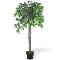 Umjetna biljka fikusa, s lončanicom, visine 110 cm