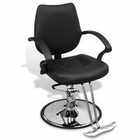 Profesionalna brijačka stolica od crne umjetne kože