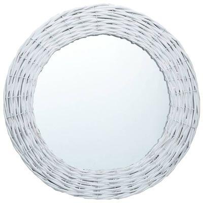vidaXL Ogledalo od pruća 60 cm bijelo