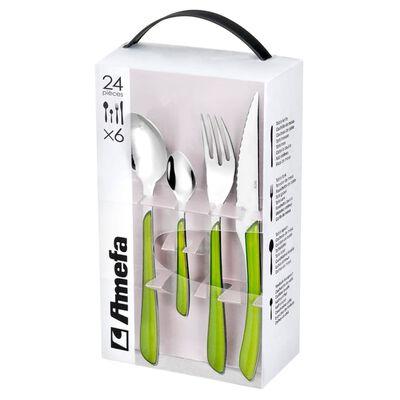 Amefa 24-dijelni pribor za jelo Eclat zeleni