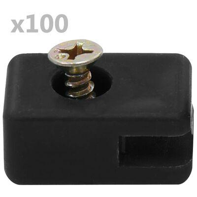 vidaXL Držač žice za vrtnu ogradu s vijkom 100 setova antracit