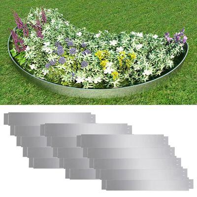 Set 15 savitljivih vrtnih ograda od pocinčanog čelika 100 x 15 cm