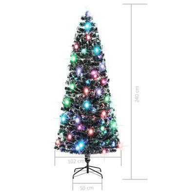 vidaXL Umjetno božićno drvce s postoljem LED 240 cm 380 grana