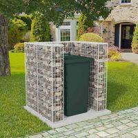vidaXL Gabionska ograda za kantu za otpad od čelika 110 x 100 x 120 cm
