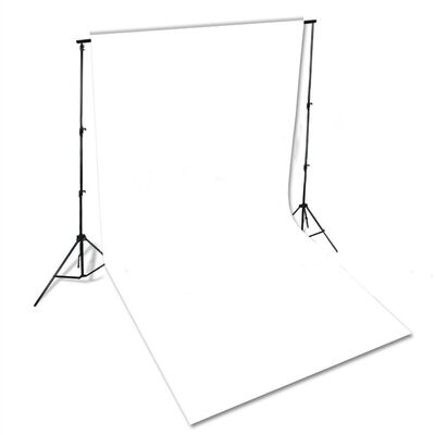 vidaXL Pozadina pamučna bijela 600x300cm