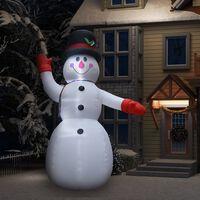 vidaXL Ukrasni snjegović na napuhavanje s LED svjetlima IP44 300 cm