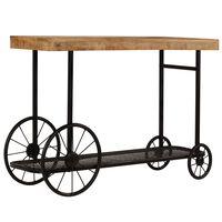 vidaXL Konzolni stol od masivnog drva manga 115 x 36 x 76 cm