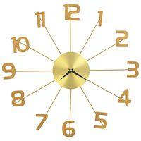 vidaXL Zidni sat metalni 50 cm zlatni