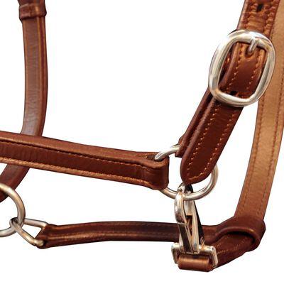 Prava Koža Oglavina za Konja Ular Podesiva Smeđa