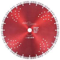 vidaXL Dijamantni disk za rezanje s turbo segmentima i rupama 350 mm