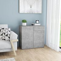 vidaXL Komoda siva boja betona 80 x 36 x 75  cm od iverice